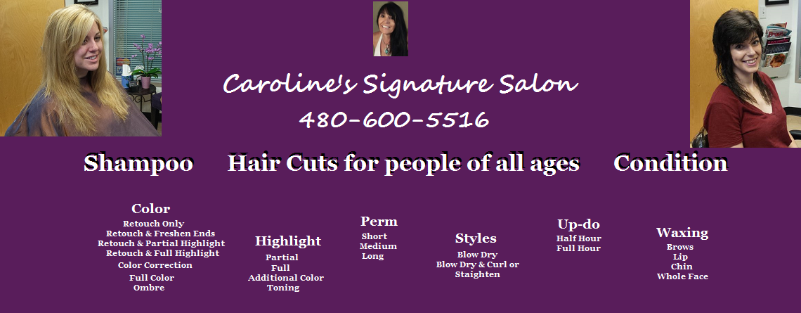 Caroline's Signature Salon Services